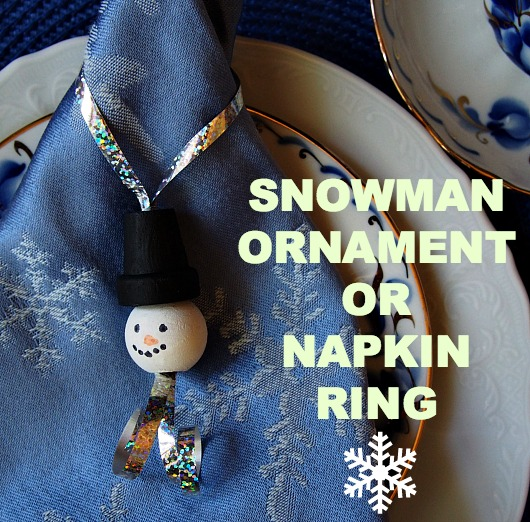 SNOWMAN ORNAMENT1 Snowman Ornament or Napkin Ring