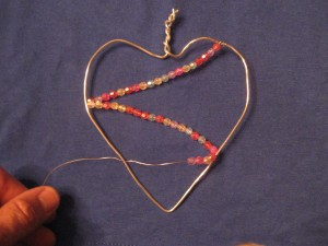 Valentine Craft 005 300x225 Jeweled Wire Heart