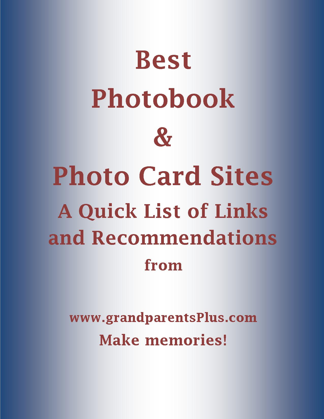photobook photo card sites links and recommendations