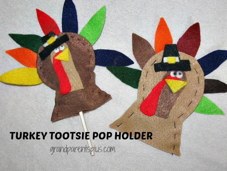 Turkey Tootsie Pop Holder    grandparentsplus.com