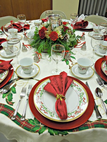 Christmas Decorations Place Settings 041