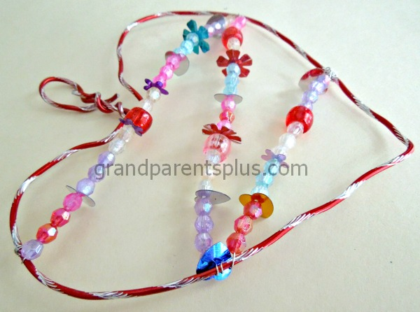 Jeweled Heart   #beads #heart #craft #Valentine