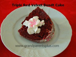 Triple Red Velvet Bundt Cake for Valentines