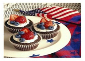 Patriotic Brownies #4th-of- July dessert #brownie dessert #