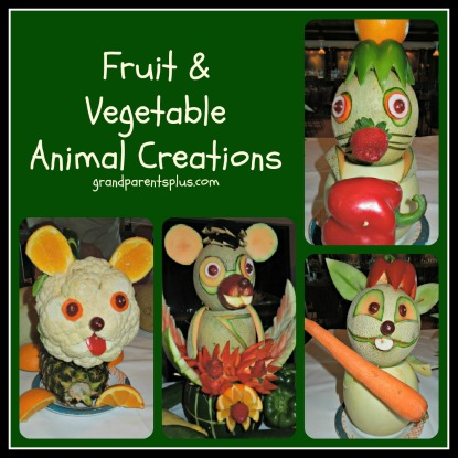 Fruite and Veggie animal creations  #fruit #centerpieces # fruit animals