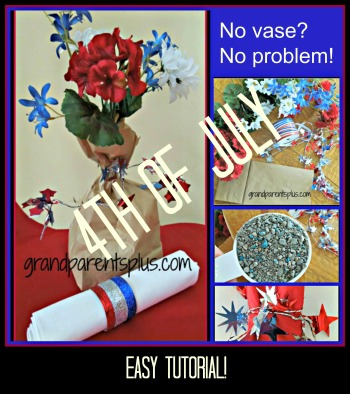 4th of July PicMonkey Collage easy tutorial DIY 4th of July   Memorial Day Centerpieces
