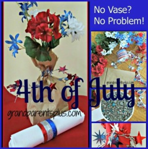 4th of July Centerpieces #centerpiece, #4th-of-july #Memorial-day www.grandparentsplus.com