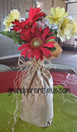 DIY Centerpieces #centerpiece #paper-bag #flowers