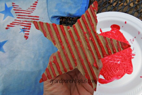 Corrugated Star Stamp www.grandparentsplus.com