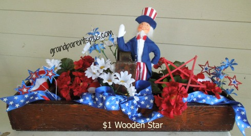 $1 Wooden Star      www.grandparentsplus.com
