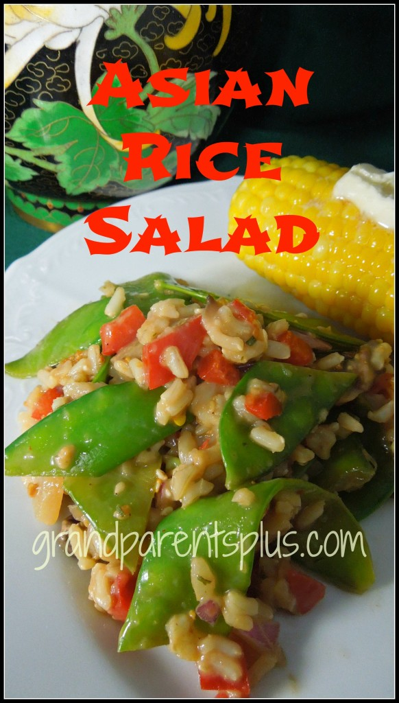 """Asian Rice Salad"" www.grandparentsplus.com"