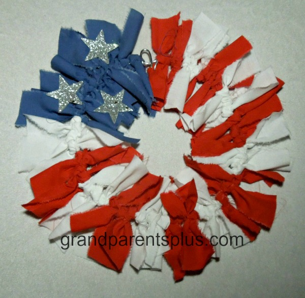 patriotic Rag Wreath