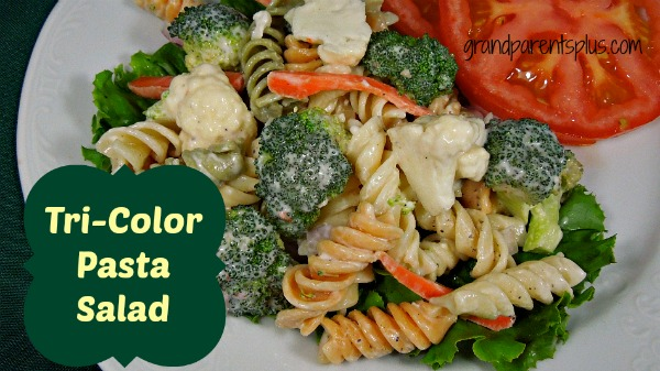 Tri-Color Pasta Salad www.grandparentsplus.com