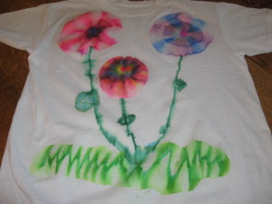 Tie Dye with Permanent Markers 004 300x225 Summer T Shirt Ideas