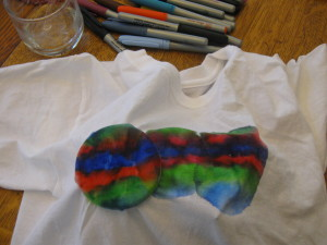 Tie Dye with Permanent Markers 007 300x225 Summer T Shirt Ideas