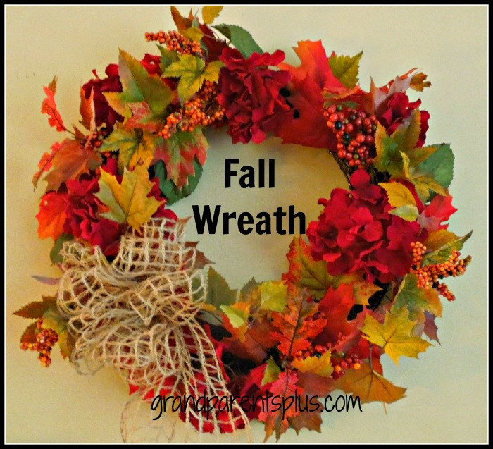 Fall Wreath  www.grandparentsplus.com