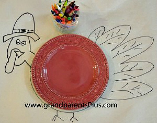 Thanksgiving 1 Thanksgiving Place Setting for Kids