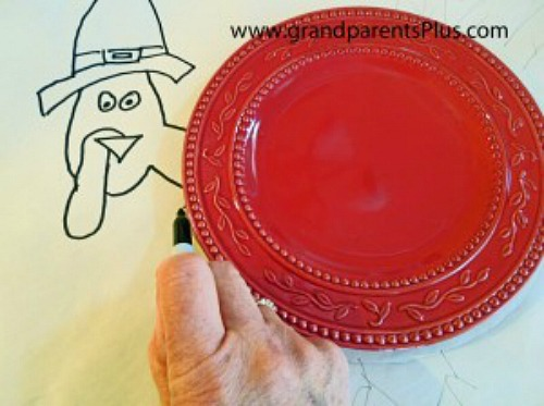 Thanksgiving Place Setting for Kids  grandparentsplus.com