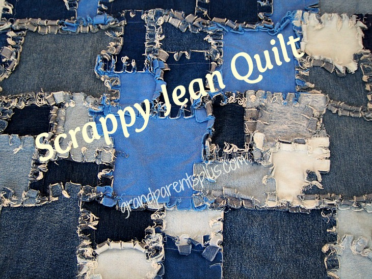 Jean Quilt 001p Scrappy Jean Quilt for Upcycling Jeans!