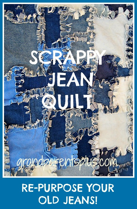 Jean Quilt 002p Scrappy Jean Quilt for Upcycling Jeans!