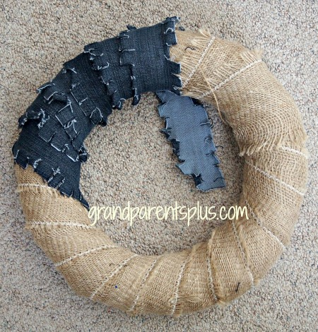Denim Wreath 001p Denim Wreath   No Sew!