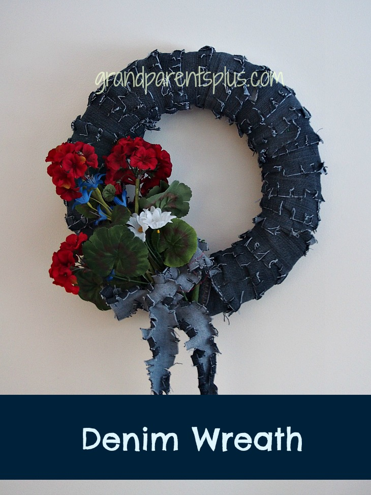 Denim Wreath 011p Denim Wreath   No Sew!