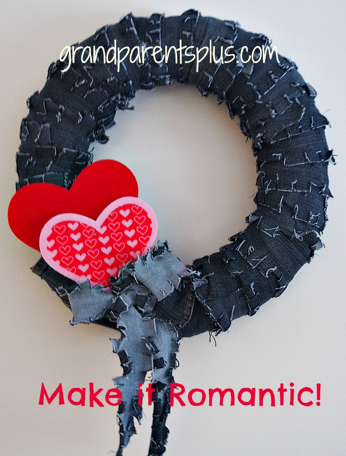Denim Wreath  grandparentsplus.com