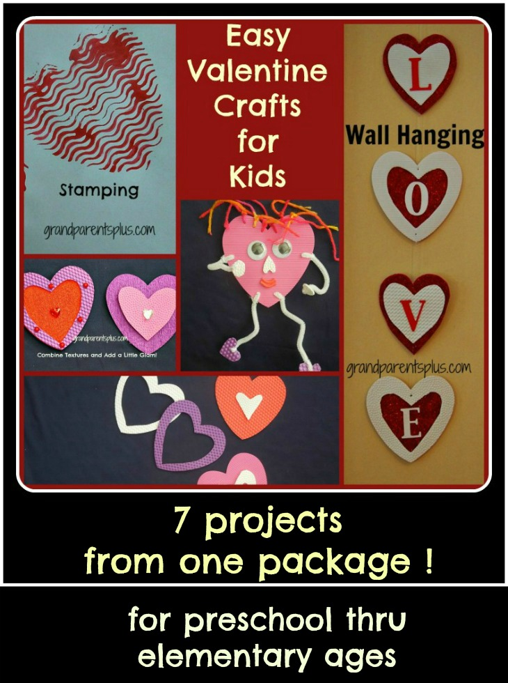 Easy Valentine Crafts for Kids   grandparentsplus.com