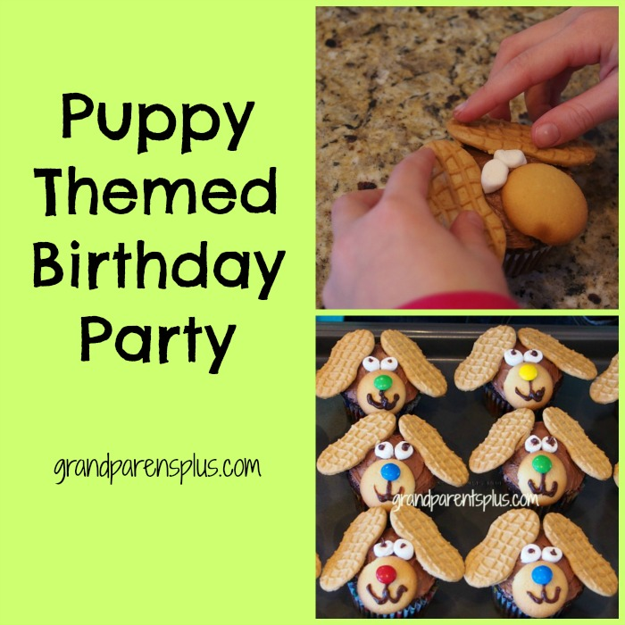 Puppy Themed Birthday Party  grandparentsplus.com