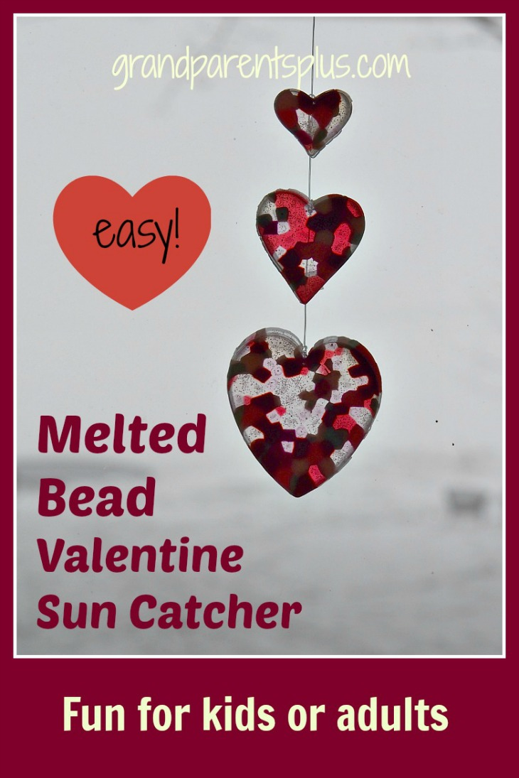 Melted Bead Valentine Suncatcher   grandparentsplus.com