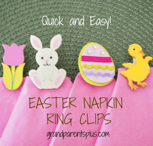 Easter Napkin Ring Clips  grandparentsplus.com