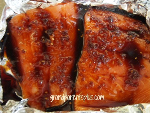 Teriyaki Salmon  grandparentsplus.com