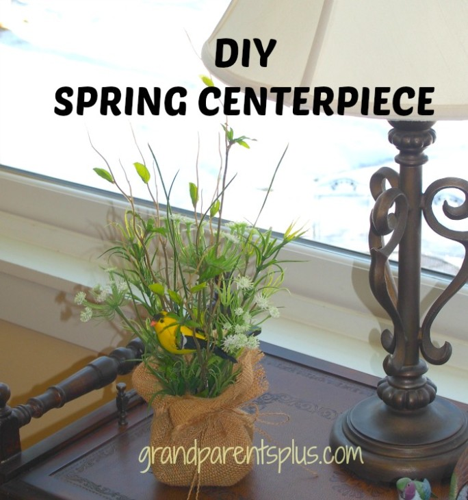 DIY Spring Centerpiece grandparentsplus.com