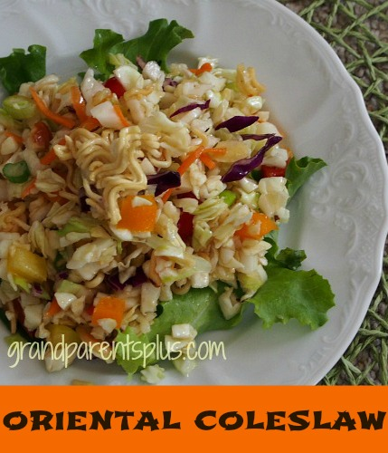 Perfect for the summer! Oriental Coleslaw Recipe from Grandparents Plus