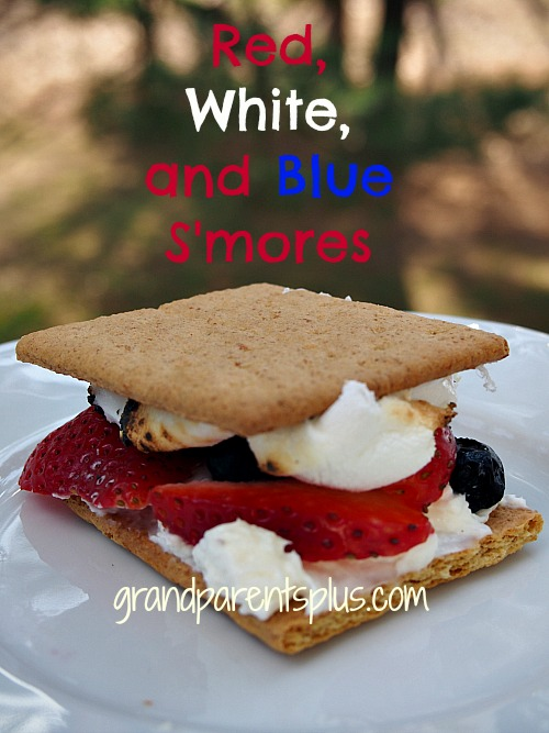 Red, White, and Blue S'more   grandparentsplus.com