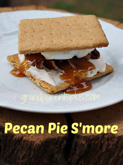 Pecan Pie S'more   grandparentsplus.com