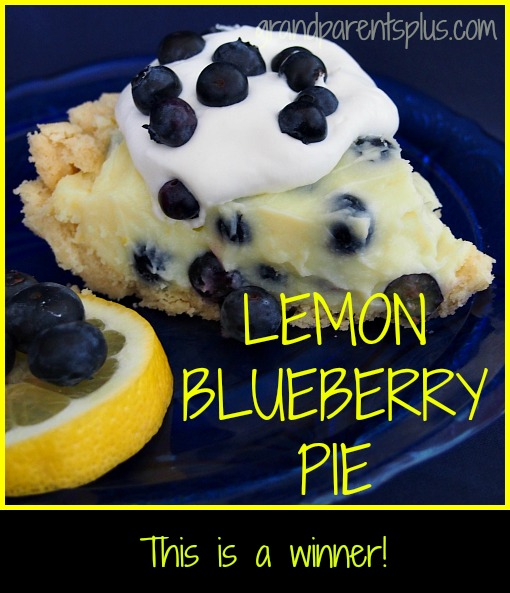 Lemon Blueberry Pie grandparentsplus.com