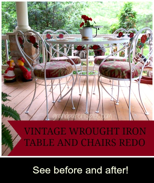 Vintage Wrought Iron Table and Chairs Redo grandparentsplus.com