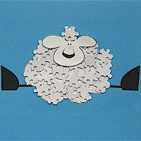 lamb Puzzle Piece Crafts for All Seasons!