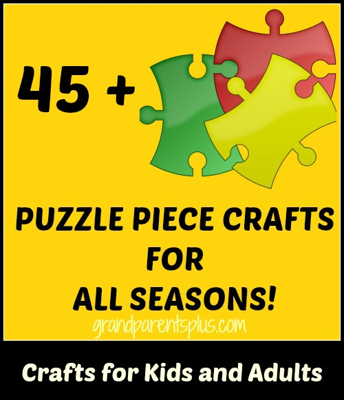 puzzle piece crafts Puzzle Piece Crafts for All Seasons!
