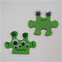 puzzle alien Puzzle Piece Crafts for All Seasons!
