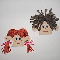 puzzle heads1 Puzzle Piece Crafts for All Seasons!