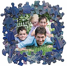 puzzle piece frame Puzzle Piece Crafts for All Seasons!