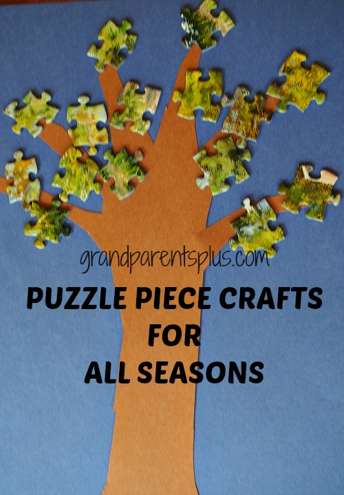 spring tree puzzle piece craft Puzzle Piece Crafts for All Seasons!