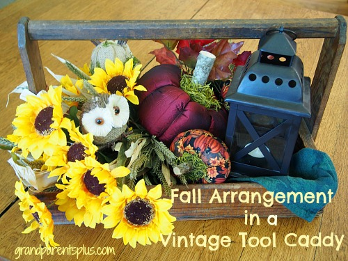 Fall Arrangement in Vintage Caddy 11 Fall Arrangement in a Vintage Caddy