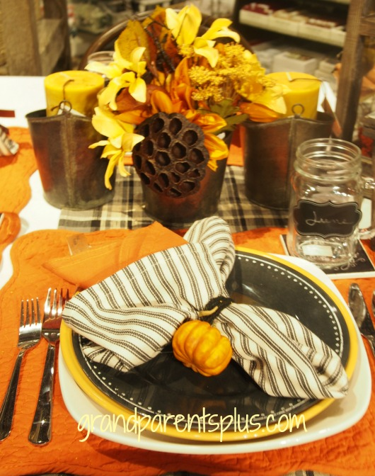 Fall Idea House 2014 pumpkin napkinring1 #4 Fall Idea House