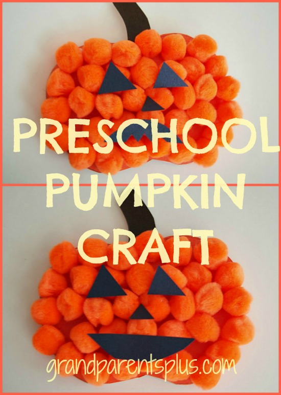 Preschool Pumpkin Craft  grandparentsplus.com
