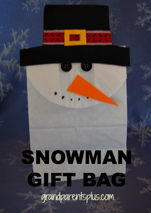 Snowman Gift Bag  grandparentsplus.com