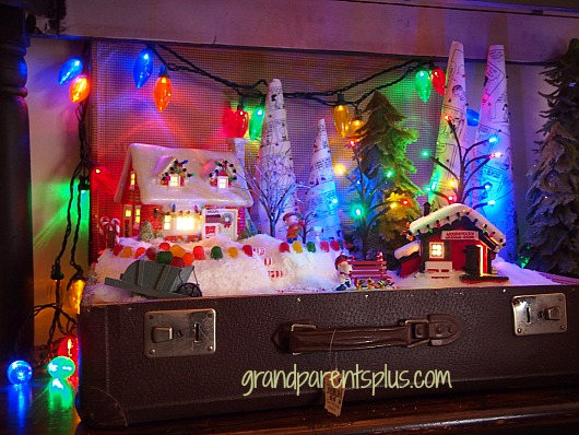 Christmas Idea House suitcase display Christmas Idea House 2014 Part 3