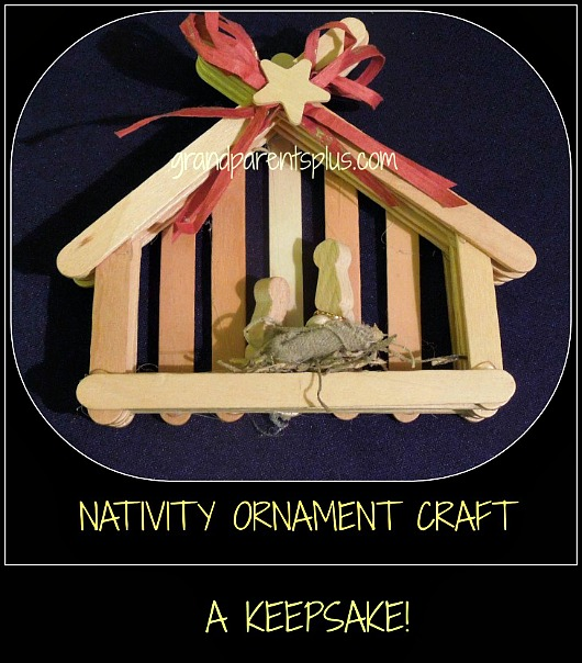 Nativity Ornament Craft  grandparentsplus.com